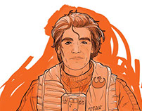 Digital Art: Poe Dameron