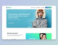 Pozi app B2B – UI webdesign