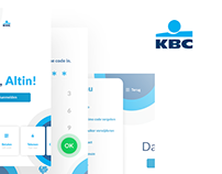 KBC Banking App - Homescreen Redesign