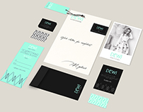 Dewi clothes boutique identity
