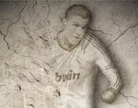 Cristiano Ronaldo Etching