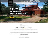 Diseño web · Finca rural El Chaparral