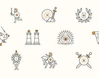 Spartan icons set