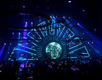 Corporate stage set