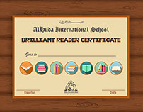 Certificate: Brillliant Reader