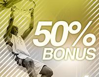Banner: 50% Bonus