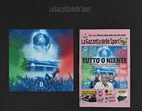S.Siro Azzurro | La Gazzetta dello Sport | Artwork