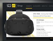 HTC Vive Preorder- Lets Talk VR Ecommerce Shop Card