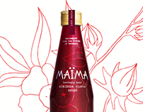 MAÏMA Hibiscus Drink Packaging