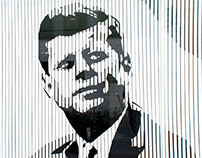 TAPE ART PORTRAIT // JFK @ ARCOTEL