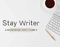 Stay Writer Free Handmade Font Family