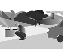 """Illustration of Strugatsky's novel """"Snail on the Slope"""""""