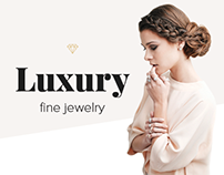 Opulent jewelry. E-commerce