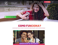 Layout Site CoinUp - 2020
