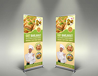 Baklava Sinage Roll-Up Banner Template