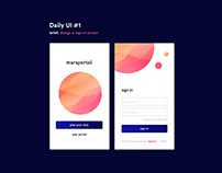 Daily UI (Visual Design) Experiment