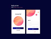 Daily UI (Visual Design) Experiment