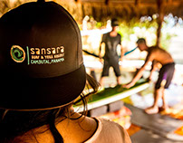 Sansara Surf & Yoga Resort Branding, Apparel & Website