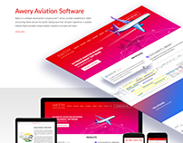 Awery Aviation Solutions website design