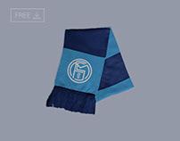 Free Football Soccer Scarf Logo Mockup PSD