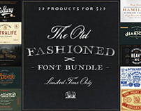 THE OLD FASHIONED FONT BUNDLE - LIMITED TIME ONLY