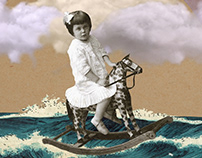Ride on the wave|Digital Collage