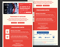 eMailing Template Design | Salons de Musique | France