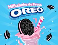 OREO Milkshake de Fresa