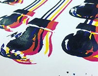 CMYK screen prints