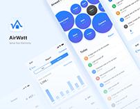 UX/ UI - AirWatt App - Sense your electricity