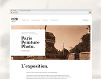 WEB DESIGN // Paris, Peinture, Photo. Speed Maketing