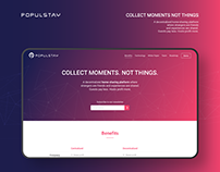 PopulStay Website // ICO, Blockchain & Cryptocurrency