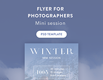 Flyer for photographers