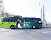 Bus Branding | Faisal Movers | ZONG 4G A NEW DREAM