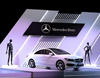 """Stends for presentation """"Mercedes-Benz"""" in Moscow."""