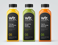 10 Juice Bottles PSD Mockups