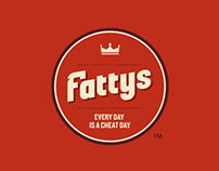 Fattys Logo and Brand Design