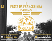Cartaz da Festa da Francesinha Barcelos.