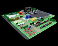 Diseño de mapa y recorrido 3D para Festival en Bogotá