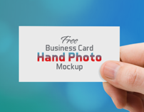 Free Business Card Hand Photo Mockup PSD