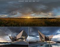 Sunset Archiviz Test. HDR 247