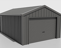 3D Shed Illustration for Cladding display.