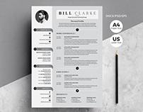 Modern Resume/Cv with Cover Letter