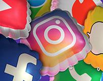 Globos redes sociales