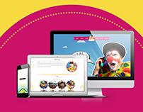 Projekt strony internetowej dla klauna Animatora.