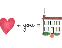 """heart"" + you = home"