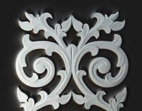 3D model of carved Decoration Panel.