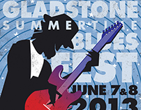 2013 Gladstone Summertime Bluesfest Program & Logo