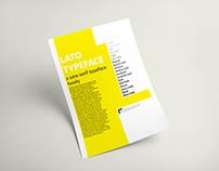 Analyse typographique | Lato