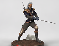 Witcher 3D Model | Static Figure
